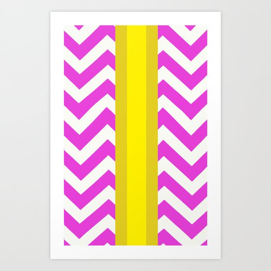 Olivia Summer Chevron Art Print
