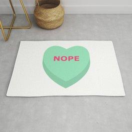 Nope Conversation Heart Rug