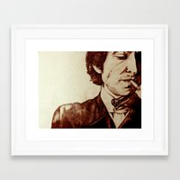 bob dylan Framed Art Prints featuring Bob Dylan by Farinaz K.