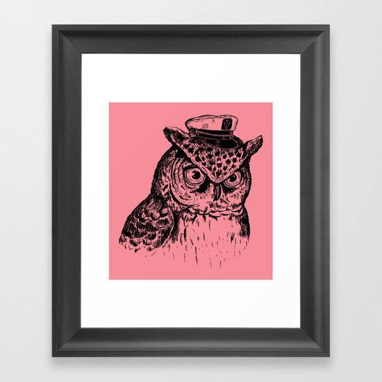 Captain Owl Framed Art Print