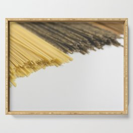 Tricolor spaghettis food photography Serving Tray