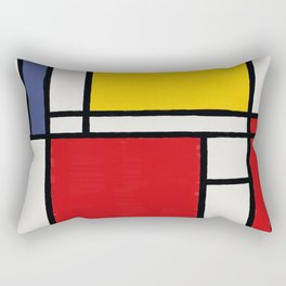 Abstract Mondrian Style Art Rectangular Pillow