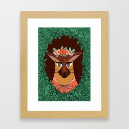 Foxi Lady Framed Art Print