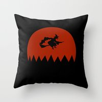 witch Throw Pillows featuring Witch by Cs025