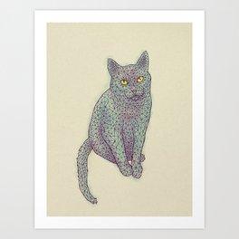 Polycat Art Print