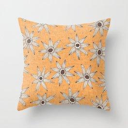 sema apricot brown Throw Pillow