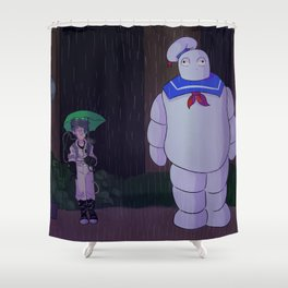 Ghostbusters My Neighbor Stay Puft Shower Curtain