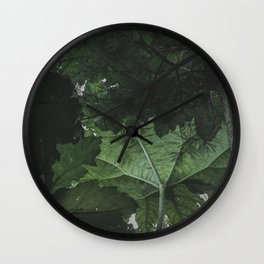 Giant Green Plants - Nature Photography Wall Clock