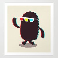 monster Art Prints featuring MONSTER 3d by Monster Riot