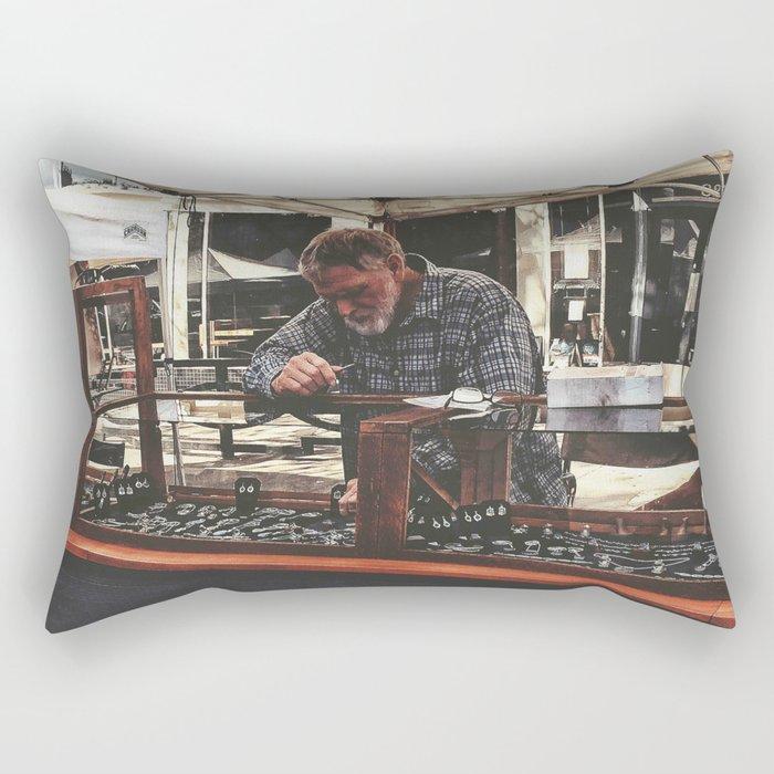 Hard at work Rectangular Pillow