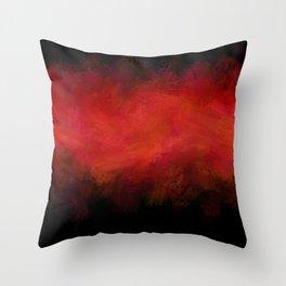 Abstract Red Black Dark Matter Throw Pillow