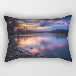The Edge of Night sunset on the Sacramento River Rectangular Pillow