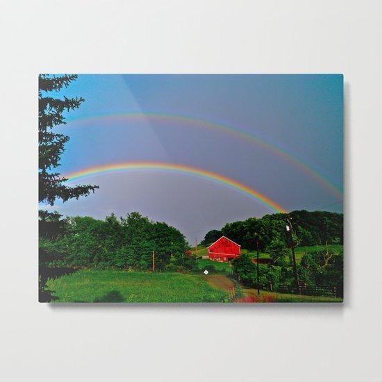 Rainbow x 2 Metal Print