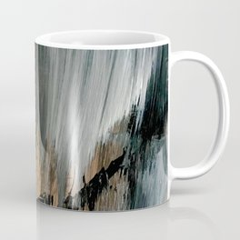 01025: a neutral abstract in gold, black, and white Coffee Mug