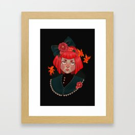 goldfish doll Framed Art Print