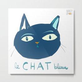 Le Chat Bleu Metal Print