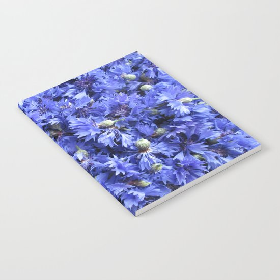 Bed of cornflowers Notebook