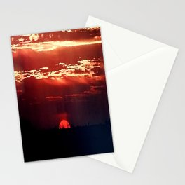 Burning Southern Setting Sun Stationery Cards