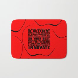 """Do what you love... """"Steve Jobs"""" Life Inspirational Quote Bath Mat"""