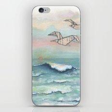 Paper seagulls iPhone & iPod Skin