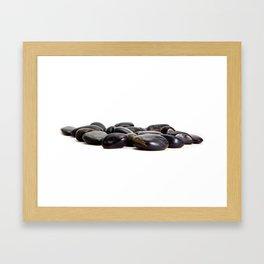 Stones on White Framed Art Print