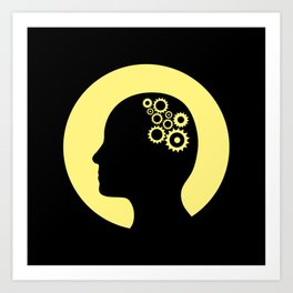Cogs in the brain Art Print
