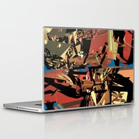 nietzsche Laptop & iPad Skins featuring Nietzsche Walks Out At Bayreuth (The Theater of Noisea)  by Lanny Quarles