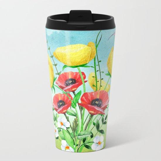 Flowers bouquet #20 Metal Travel Mug