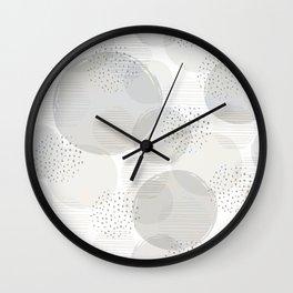 Geometric Bubble Pattern Wall Clock