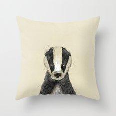 little badger Throw Pillow