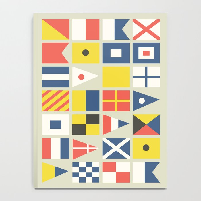 Geometric Nautical flag and pennant Notebook