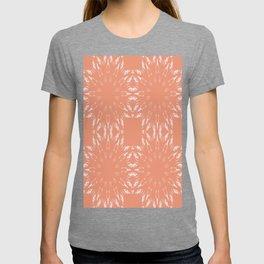 Peach Color Burst Mandala Living Coral T-shirt