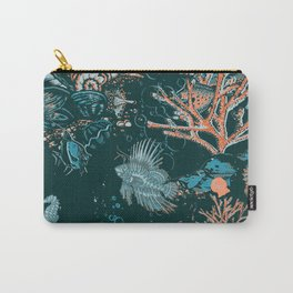 Coral Reef Aquatic Ocean Scene Carry-All Pouch