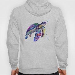 Sea Turtle Rainbow Colors, turtle design illustration artwork animals Hoody