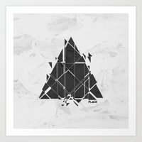 deadmau5 Art Prints featuring PLACE Triangle V2 by Sitchko Igor