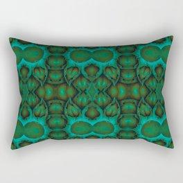 Petal Time Teal Green Rectangular Pillow