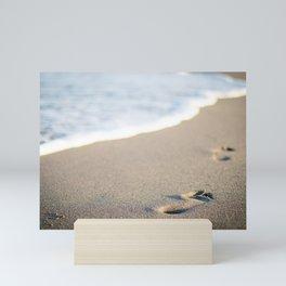 Footprints in the Sand Mini Art Print