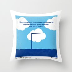 No234 My Truman show minimal movie poster Throw Pillow
