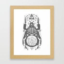 Magic beetle, all-seeing-eye Framed Art Print