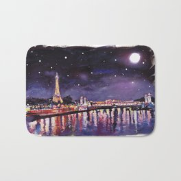 Paris at Night Bath Mat
