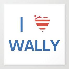 I Heart Wally Canvas Print