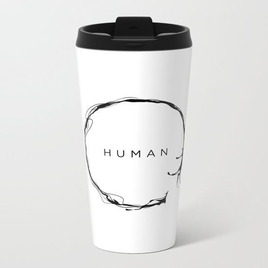 HUMAN Metal Travel Mug