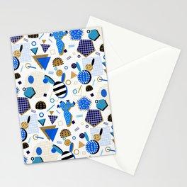 Cobalt Blue Cactus Memphis Style Stationery Cards