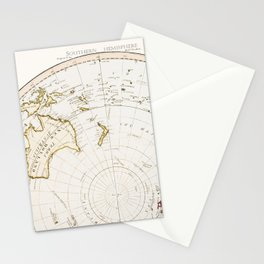 Southern Hemisphere - reproduction of William Faden's 1790 engraving Stationery Cards