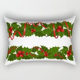 Christmas holly decoration Rectangular Pillow