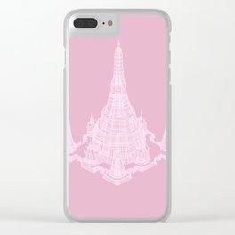 Wat Arun pink Clear iPhone Case
