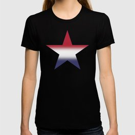 Red White and Blue Gradient Ombré T-shirt
