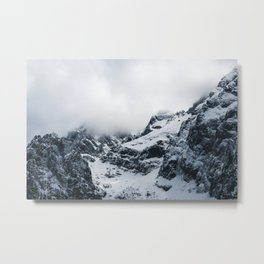 Majestic mountains under the clouds Metal Print