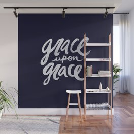 Grace upon Grace x Navy Wall Mural