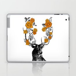 The Stag and Roses   Orange Laptop & iPad Skin